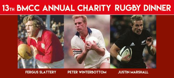 BMCC Annual Charity Rugby Dinner returns